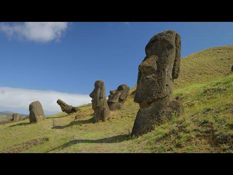 Easter Island in 4K - 1 hour of Peaceful Relaxing Music