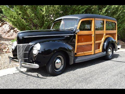 1940 Ford Deluxe Woody Wagon Retro-Rod Video