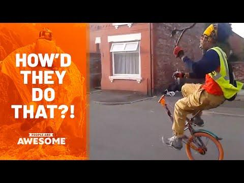 Extreme Unicycle Tricks, Fitness, Skateboarding & More Video | How'd They Do That?!