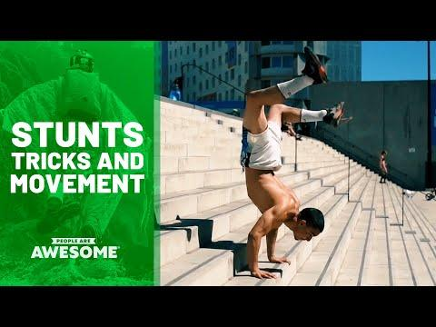 Stunts in Parkour, Ramp Flips, Street Skateboarding & More | People Are Awesome Video