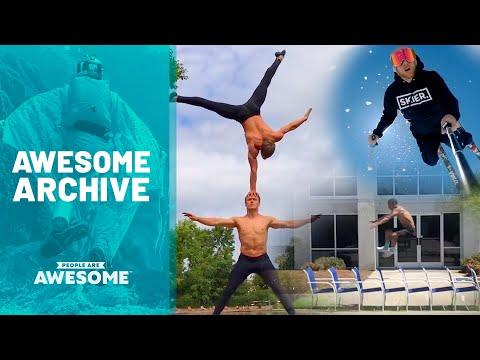 Chair Jumps, Ski Flips, & Balance Tricks | Awesome Archive