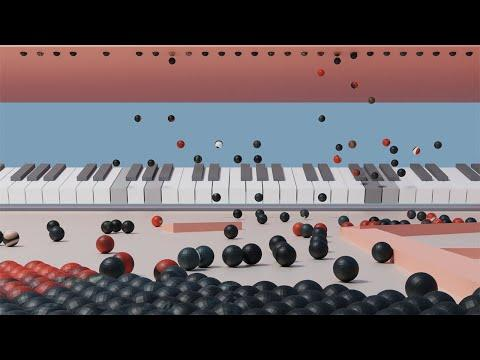 The Piano Printer V2 - Marble Physics Simulation (Beethoven | Für Elise)