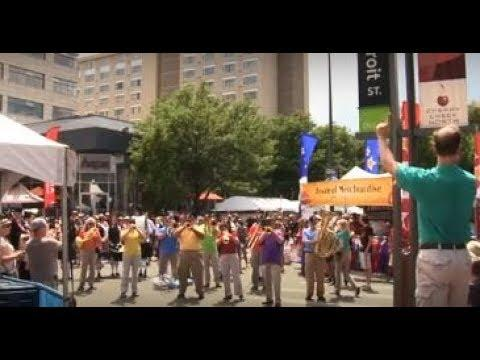 God Bless America - Flash Mob with Denver Brass